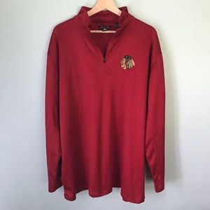 • antigua • blackhawks quarter zip pullover